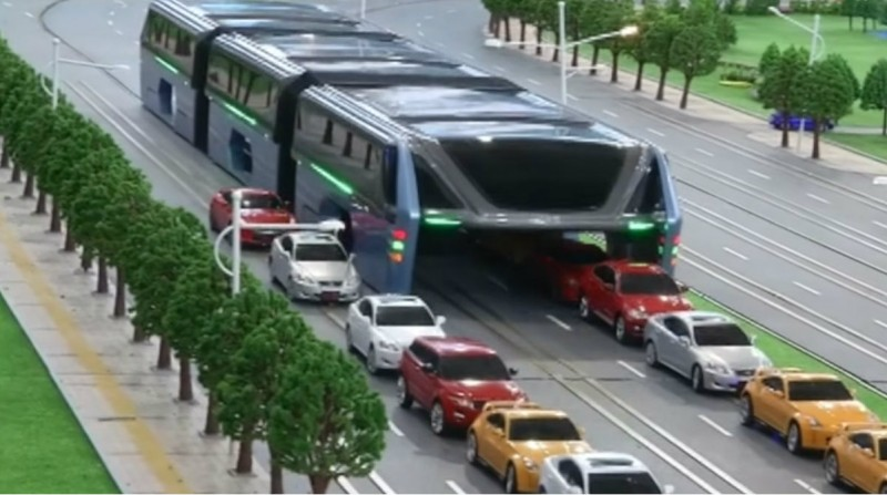 Model Chinese rail bus as an example of green transport tech