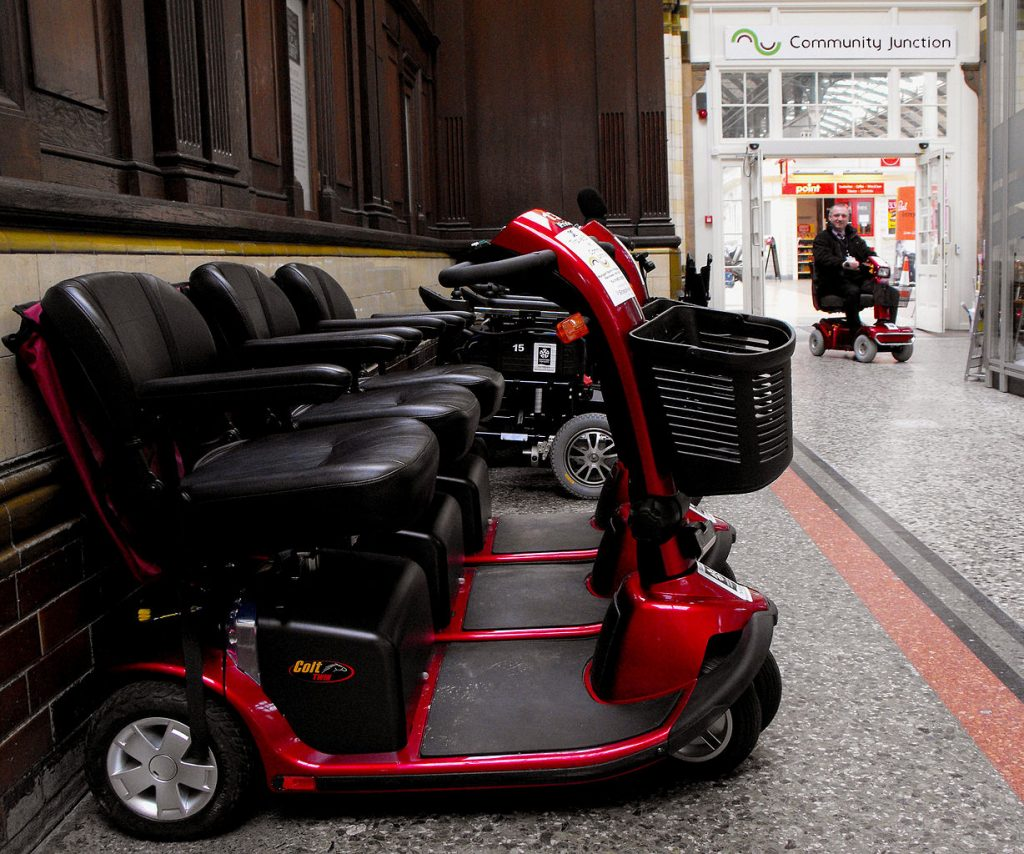 Mobility scooters to increase mobility on transport