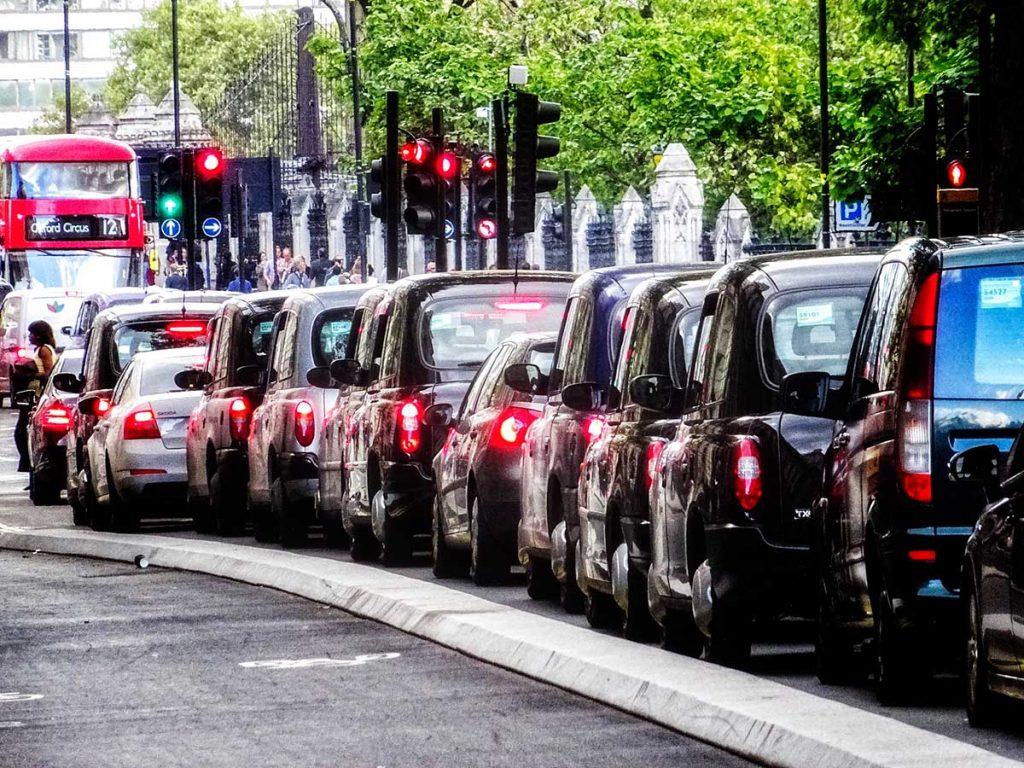 Using smart road technology to manage traffic jams London